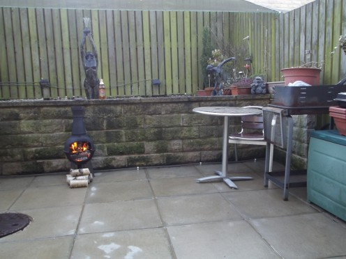 Next job is to paint the barbecue. Usually buy a new one every year. This one is still in good condition.