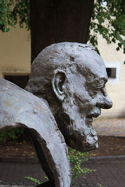 "Sculpture of Padre Pio in Muchargasse, Lienz. St. Padre Pio believed in Christian meditation. ""Through the study of books one seeks God; by meditation one finds him."""