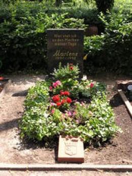 Marlene's Grave In Berlin