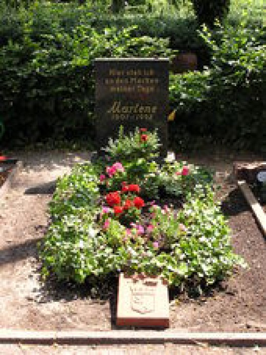 Marlene's Grave In Berlin
