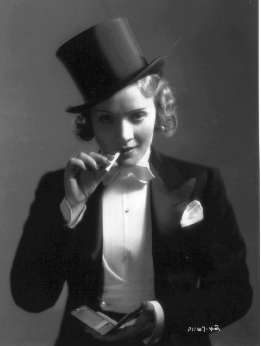 Marlene Dressed In Mens Clothing