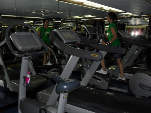 Gym inside the Claridges Hotels and Resorts in Aurangzeb Road New Delhi located near the Lodi Estate.