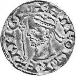 One more of Harold II's coins, a silver penny bearing the inscription 'Rex Anglorum', King of England'