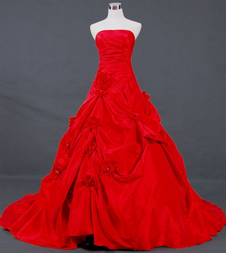 Red wedding dress, $649. Alternative Wedding Dresses: Getting Married in Red.
