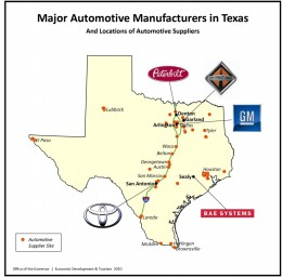 Auto Mfg is healthy in Texas.