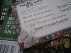 I have received gift certificates for Fire Mountain Gems for magazine submissions.