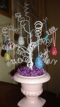 DIY Easter Tree Ornaments - Jeweled Eggs