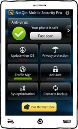 Screenshot of Netqin antivirus