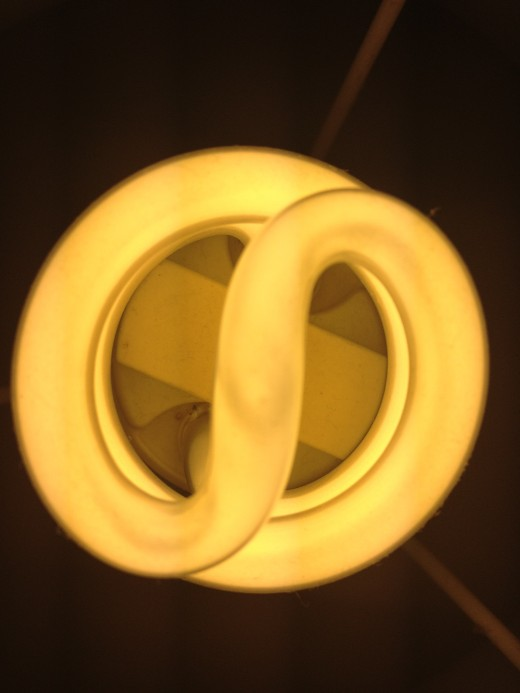 Can you tell what this is? It's an energy saving lightbulb.