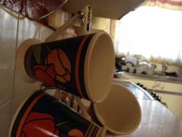 Mugs on the mug tree.
