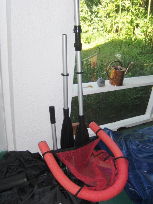 An extra noodle chair for a friend is good and as long has you have two adjustable aluminum oars you are good each tube or chair needs one oar if you are going to go anywhere.