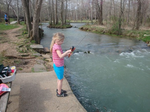 Enjoing the day at Meramac Spring Park in St. James, MO