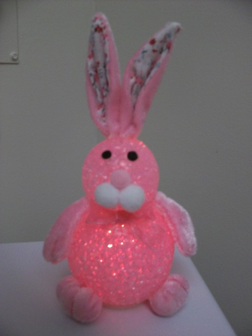 An imposter Easter Bunny