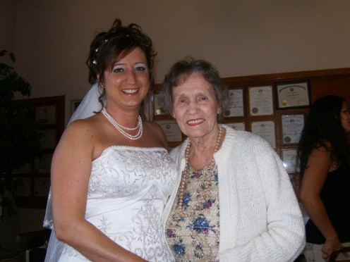 Mom and her grandaughter's wedding