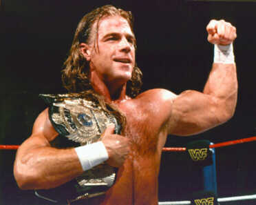 Shawn Michaels with the wwe championship