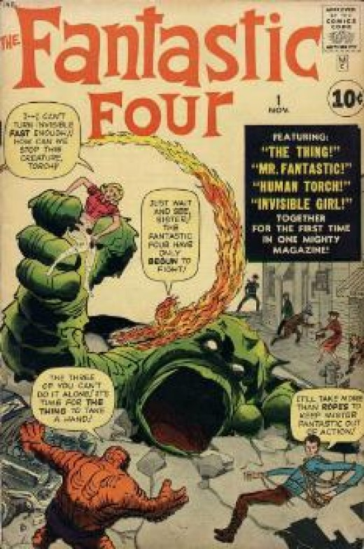 The dawn of the Marvel Age: Fantastic Four #1 by Stan Lee and Jack Kirby.