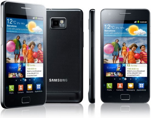 The Samsung Galaxy S II smart phone offers a mini-HDMI and USB port, and 16 GB storage capacity.
