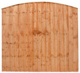 Arched top closeboard Panel