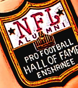Pro Footbal Hall of Fame Enshrinee patch.