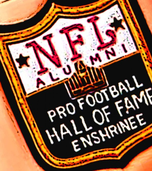 Pro Footbal Hall of Fame Enshrinee patch.