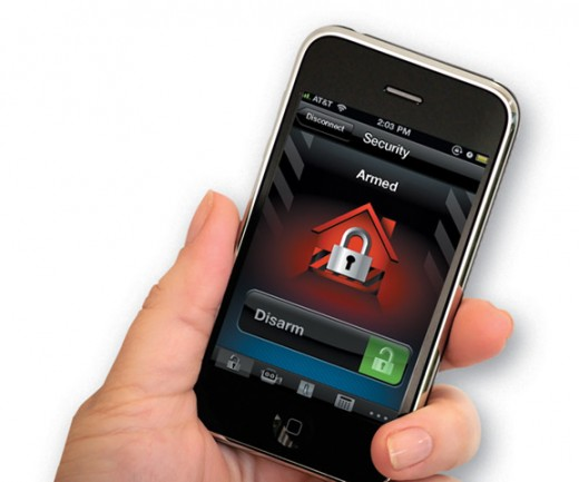 wireless home alarm system monitoring via smartphone