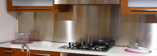 A stainless steel backsplash will add a modern touch.
