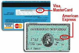 Verify CVV and CVC numbers to avoid a charge back.