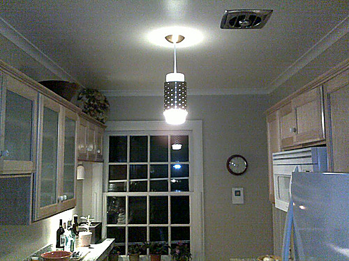Pendant lighting will give your kitchen a contemporary look.