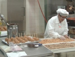 Workers busy creating some of the wonderful treats available at Ethel M. Chocolates.