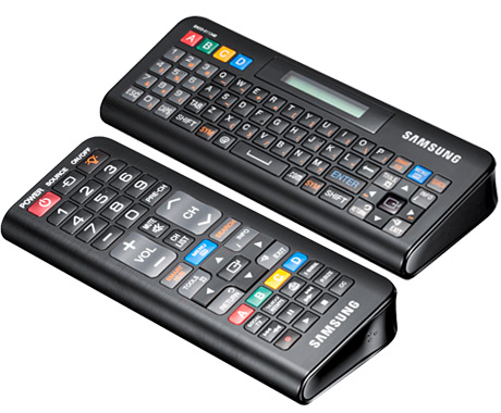 Smart Hub remote with QWERTY keyboard.