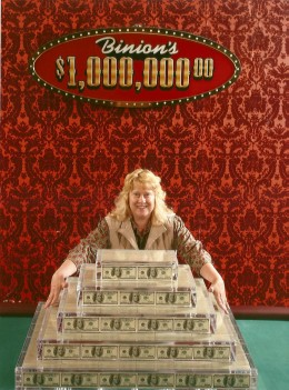 This is what a million dollars looks like! Photo from Binion's on Fremont Street.