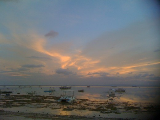 beach fronting Linaw Resort in Panglao