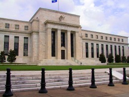 "The Federal Reserve headquarters building in Washington, DC. The private bank in ""Fed"" clothing, helping to bring an end to the world as we know it."