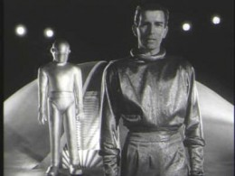 """Michael Rennie as Klaatu in the original, 1951, production of """"The Day the Earth Stood Still."""" Keanu Reeves played this role in the 2008 remake."""