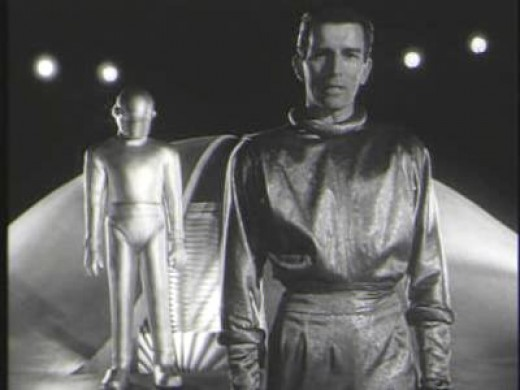 "Michael Rennie as Klaatu in the original, 1951, production of ""The Day the Earth Stood Still."" Keanu Reeves played this role in the 2008 remake."