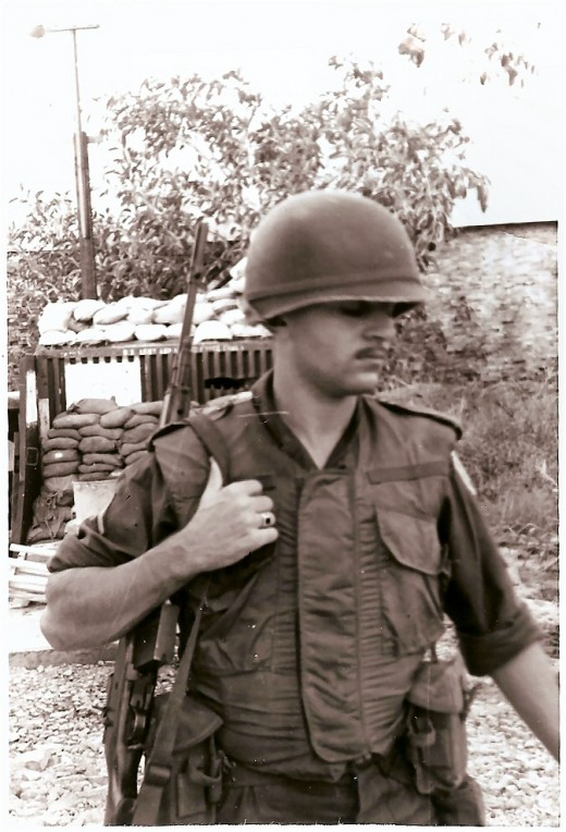 The author on guard duty in Saigon in 1966.