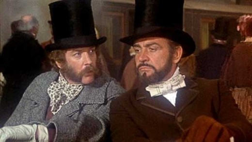 Donald Sutherland and Sean Connery in The Great Train Robbery (1979)