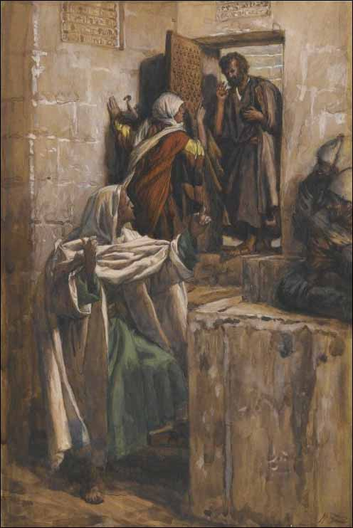 "James Jacques Tissot's ""The First Denial of St. Peter."""