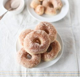 Baked Doughnuts. Here they have been dipped in Splenda. See below for how to make powdered Splenda so you can make delicious powdered baked donuts.