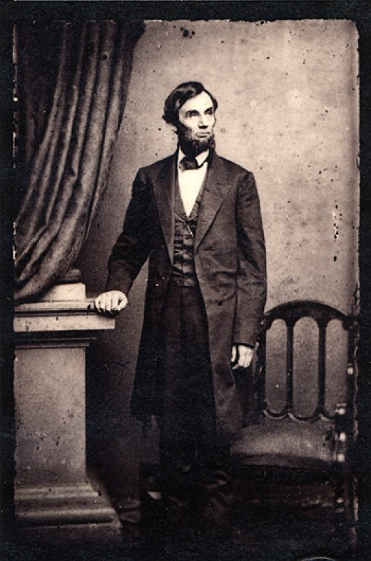 A Rare Standing Photograph of Lincoln Taken on April 17, 1863 by Thomas Le Mere at Mathew Brady's Studio in Washington, DC.