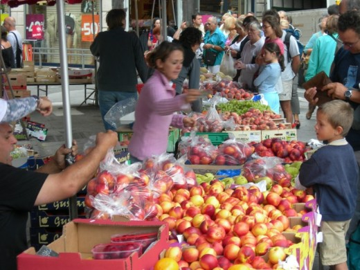A farmer's market is an ideal place to buy your fresh, local fruit and vegetables