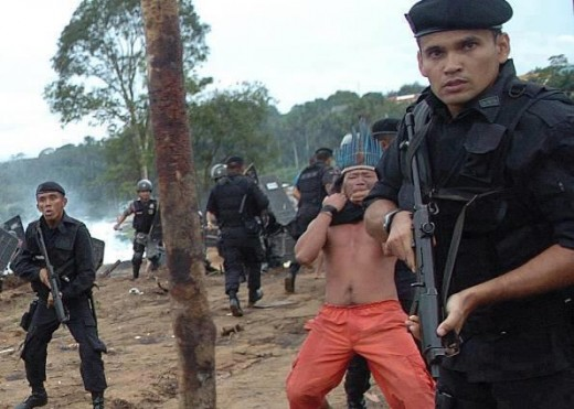 "Finally: The Indian Wars have not ended. This is one of the latest incidents to occur and this is in the Amazon where First Nations are being removed for the sake of development. In this case, the Marines are ""escorting"" them away from new oil finds."