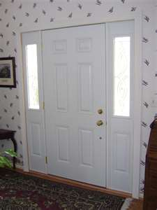 front door with deadbolt lock