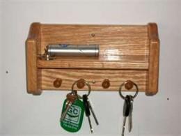key rack by the front door