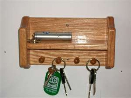 key rack by the front door