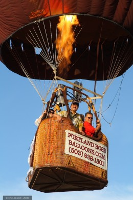 Hot air balloon pilots use Charles's law to control their altitude