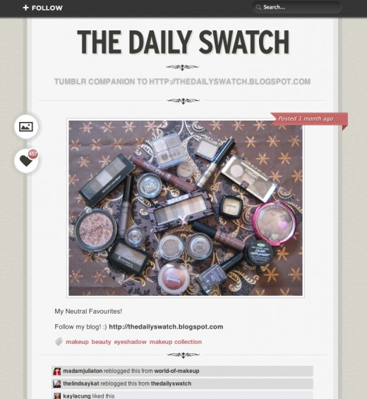 The Daily Swatch on Tumblr