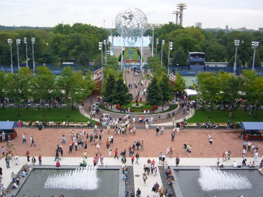 The entrance to the US Open grounds at Flushing Meadow