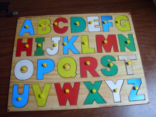 Wooden Alphabet board puzzle