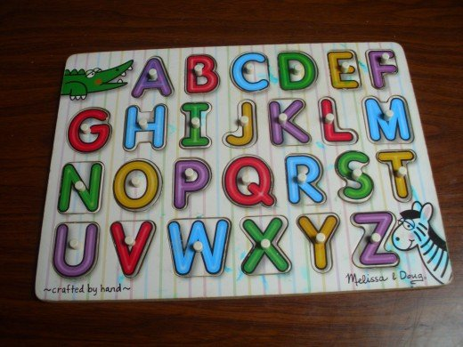 Smaller wooden Alphabet puzzle from Mellisa and Doug